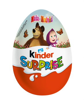 Máša a medvěd a The Happos Family nově v Kinder Surprise